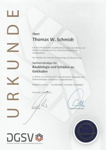 Zertifikat DGSV